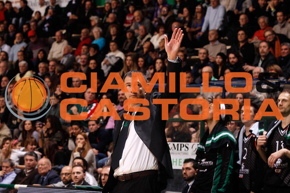 DESCRIZIONE : Siena Eurolega Eurolegue 2012-13 Montepaschi Siena Unicaja Malaga<br /> GIOCATORE : Luca Banchi<br /> SQUADRA : Montepaschi Siena <br /> CATEGORIA : ritratto coach esultanza<br /> EVENTO : Eurolega 2012-2013<br /> GARA : Montepaschi Siena Unicaja Malaga<br /> DATA : 30/11/2012<br /> SPORT : Pallacanestro<br /> AUTORE : Agenzia Ciamillo-Castoria/P.Lazzeroni<br /> Galleria : Eurolega 2012-2013<br /> Fotonotizia : Siena Eurolega Eurolegue 2012-13 Montepaschi Siena Unicaja Malaga<br /> Predefinita :