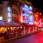 USA/Miami/20150808  - Miami South Beach bij nacht