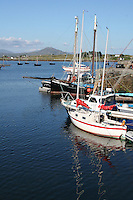 Boats at Roundstone Connemara landscape County Galway Ireland