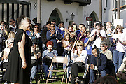 "January 19, 2009 - Santa Barbara, CA: CA: Santa Barbara Honors Dr. Martin Luther King, Jr. with a morning program at De la Guerra Plaza.  Musical Presentation: Michelle Lawyer performs Dr. King's favorite song ""Precious Lord, take my hand and lead me home"" (Photo by Rod Rolle)"
