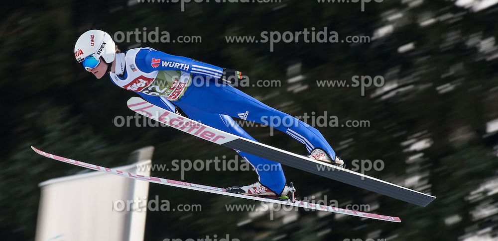 03.01.2015, Bergisel Schanze, Innsbruck, AUT, FIS Ski Sprung Weltcup, 63. Vierschanzentournee, Innsbruck, Training, im Bild Marinus Kraus (GER) // Marinus Kraus of Germany soars through the air during a training session for the 63rd Four Hills Tournament of FIS Ski Jumping World Cup at the Bergisel Schanze in Innsbruck, Austria on 2015/01/03. EXPA Pictures © 2015, PhotoCredit: EXPA/ Jakob Gruber