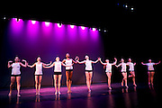 Dance Wisconsin dancers rehearse Run for Life at Madison College in Madison, Wisconsin on October 11, 2012.