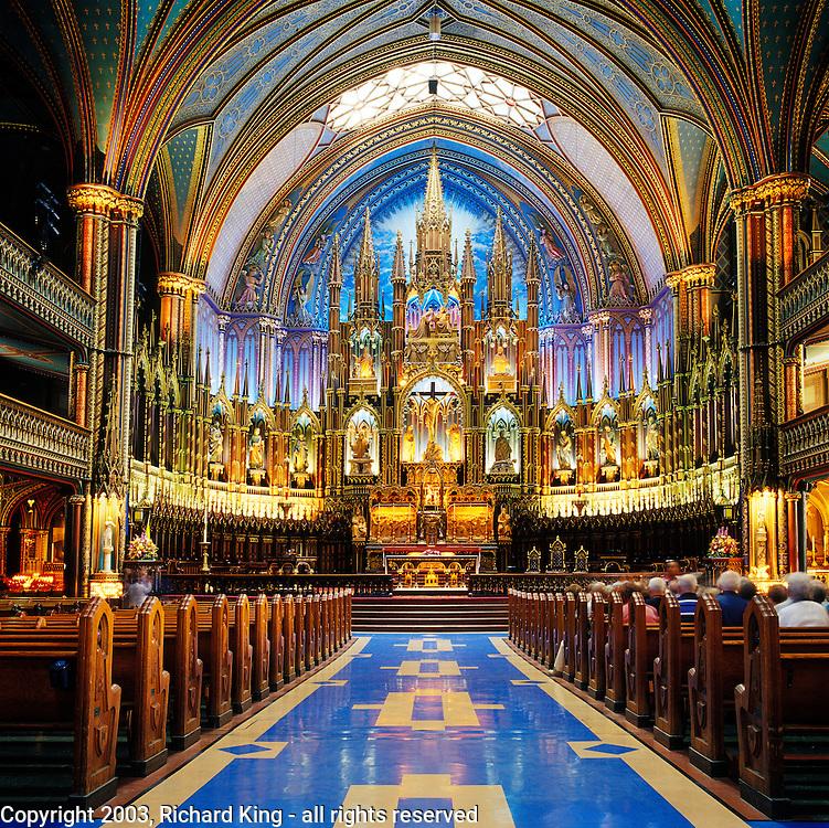 Interior Notre Dame Cathedral, Montréal, Quebec