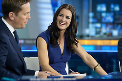 Kirsty Gallacher at the Sky Sports TV studio for the transfer Deadline Day show..© Michael Schofield...