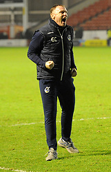 Bristol Rovers caretaker manager Graham Coughlan celebrates at the full time whistle - Mandatory by-line: Nizaam Jones/JMP - 26/12/2018 - FOOTBALL - Banks's Stadium - Walsall, England- Walsall v Bristol Rovers - Sky Bet League One