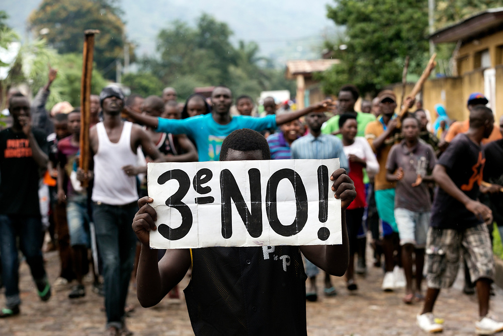 Burundi/Bujumbura 2015-05-08<br /> The protests against president Pierre Nkurunziza&rsquo;s bid for a third term have been going on since the 26th of April 2015.