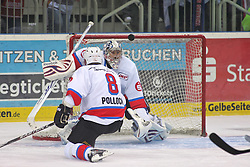 23.09.2011, ISS Dome, Düsseldorf, GER, DEL, 6. Spieltag,DEG vs. Thomas Sabo Ice Tigers, im Bild Patrick Ehelechner (Thomas Sabo Ice Tigers #25) mit Glueck, der Puck knallt an die Querlatte....// during the DEL match day 6, DEG vs.  Thomas Sabo Ice Tigers on 2011/10/01, ISS Dome, Duesseldorf, Germany. EXPA Pictures © 2011, PhotoCredit: EXPA/ nph/  Herbst*** Local Caption ***       ****** out of GER / CRO  / BEL ******