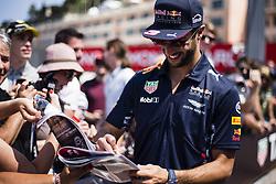 May 26, 2017 - Monaco, Monaco - 03 RICCIARDO Daniel from Australia of Red Bull Tag Heuer RB13 signing autographs to the fans during the Monaco Grand Prix of the FIA Formula 1 championship, at Monaco on 26th of 2017. (Credit Image: © Xavier Bonilla/NurPhoto via ZUMA Press)
