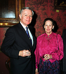SIR HAROLD & LADY WALKER, he was the former British ambassador in Kuwait, at a reception in London on 15th February 2000.OAZ 12 2OLO