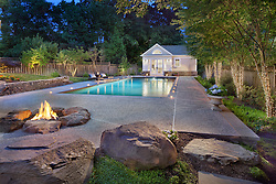 6124 Overlea back yard with deck, pool,whirlpool backyard