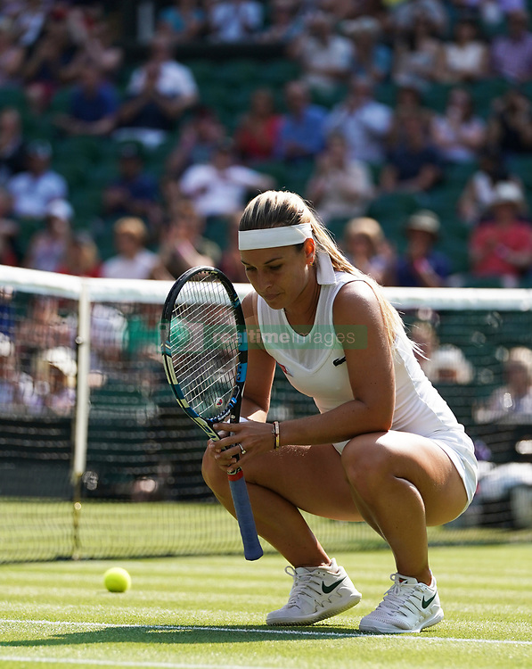 July 5, 2018 -  London, UK: Dominika Cibulkova (svk). The Wimbledon Lawn Tennis Championships at All England Lawn Tennis and Croquet Club.Ladies singles - second round.Dominika Cibulkova (svk) defeats Kpnta. (Credit Image: © Lnp/London News Pictures via ZUMA Wire)