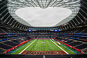 Tottenham Stadium gets set ahead of the International Series match between Tampa Bay Buccaneers and Carolina Panthers at Tottenham Hotspur Stadium, London, United Kingdom on 13 October 2019.