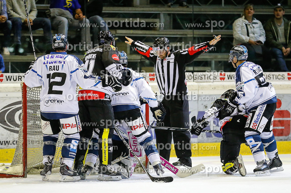 28.09.2014, Messestadion, Dornbirn, AUT, EBEL, Dornbirner EC vs EHC Liwest Black Wings Linz, 6.Runde, im Bild Chad Rau, (EHC Liwest Black Wings Linz #12)// during the Erste Bank Icehockey League 6th round match between Dornbirner EC and EHC Liwest Black Wings Linz at the Messestadion in Dornbirn, Austria on 2014/09/28, EXPA Pictures © 2014, PhotoCredit: EXPA/ Peter Rinderer