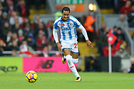Thomas Ince of Huddersfield Town in action. Premier League match, Liverpool v Huddersfield Town at the Anfield stadium in Liverpool, Merseyside on Saturday 28th October 2017.<br /> pic by Chris Stading, Andrew Orchard sports photography.