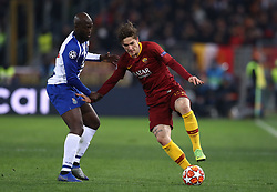 February 12, 2019 - Rome, Italy - AS Roma v FC Porto : UEFA Champions League Round of 16 .Danilo of Porto and Niccolo Zaniolo of Roma at Olimpico Stadium in Rome, Italy on February 12, 2019..Photo Matteo Ciambelli / NurPhoto  (Credit Image: © Matteo Ciambelli/NurPhoto via ZUMA Press)