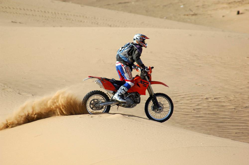 Motorcycle, Sand Dunes, Erg Chebbi,  Merzouga, Morocco