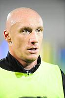 Sebastien PUYGRENIER - 31.10.2014 - Auxerre / Brest - 13eme journee Ligue 2<br />Photo : Jean Paul Thomas / Icon Sport