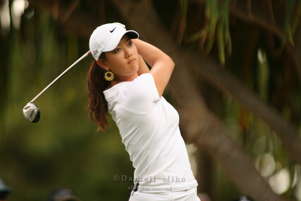 Feb 24, 2006; Kapolei, HI, USA; Michelle Wie tees off during the 2nd round of the LPGA Fields Open at Ko Olina Resort...Photo Credit: Darrell Miho.Copyright © 2006 Darrell Miho