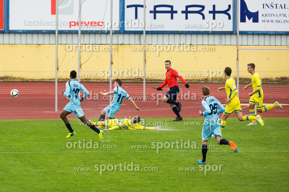 During football match between NK Domzale and ND Gorica in 28th Round of Prva liga Telekom Slovenije 2014/15, on April 18, 2015 in Sports park Domzale, Slovenian. . (Photo by Grega Valancic / Sportida.com)