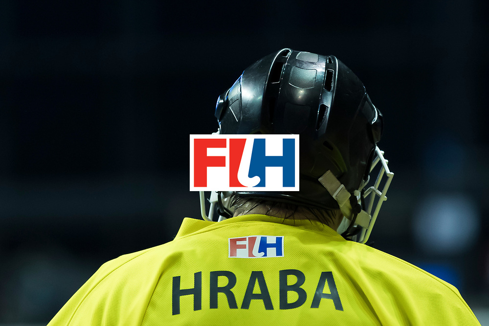 Hockey, Seizoen 2017-2018, 09-02-2018, Berlijn,  Max-Schmelling Halle, WK Zaalhockey 2018 MEN, Iran - Czech Republic 2-2 Iran Wins after shoutouts, Pavel Hraba (GK) .