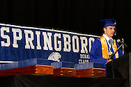 Salutatorian Tyler Kapolka speaks during the 119th annual Springboro High School commencement at the Nutter Center in Fairborn, Saturday, June 2, 2012.