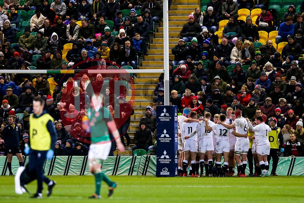 England U20 huddle - Rogan/JMP - 21/02/2020 - Franklin's Gardens - Northampton, England - England U20 v Ireland U20 - Under 20 Six Nations.