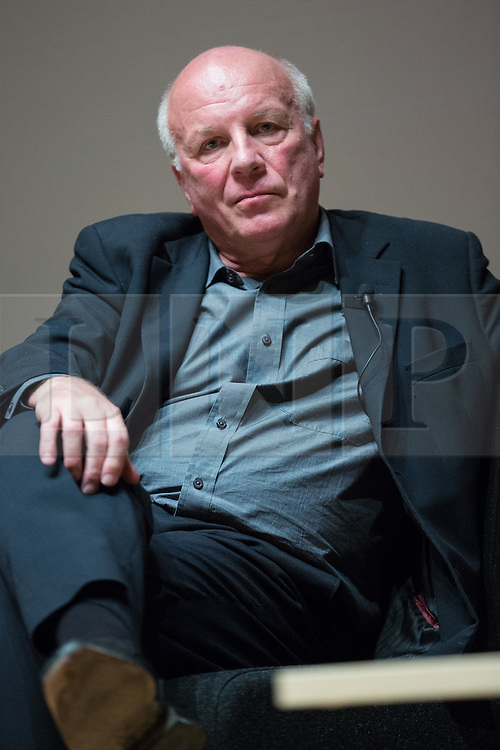 © Licensed to London News Pictures . 27/11/2014 . Manchester , UK . FA Chairman GREG DYKE at a public forum on Tackling Discrimination in Football , at Manchester University . The debate , sponsored by race equality think tank , The Runnymede Trust , addressed issues of racism and homophobia in soccer . Photo credit : Joel Goodman/LNP