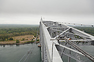 A view of the top of the lift span of the Cape Cod railroad bridge