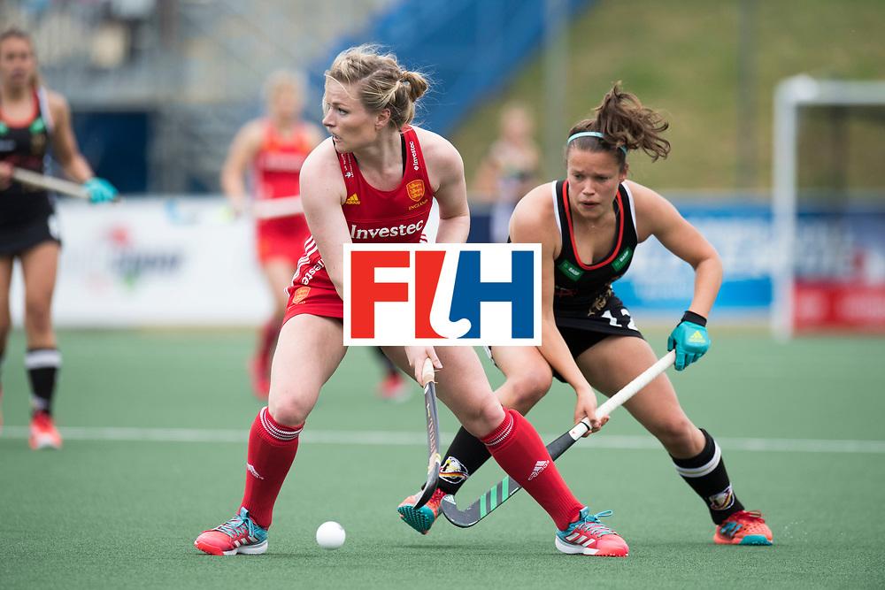 AUCKLAND - Sentinel Hockey World League final women<br /> Match id 10293<br /> 03 England v Germany <br /> Foto:  Hollie Pearne-Webb and Charlotte Stapenhorst <br /> WORLDSPORTPICS COPYRIGHT FRANK UIJLENBROEK