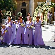 ITA/Siena/20100718 - Huwelijk wesley Sneijder en Yolanthe Cabau van Kasbergen in Siena Italie, 5 zussen van Yolanthe Deborah, Nathalie, Kalin, Xelly, Rebecca
