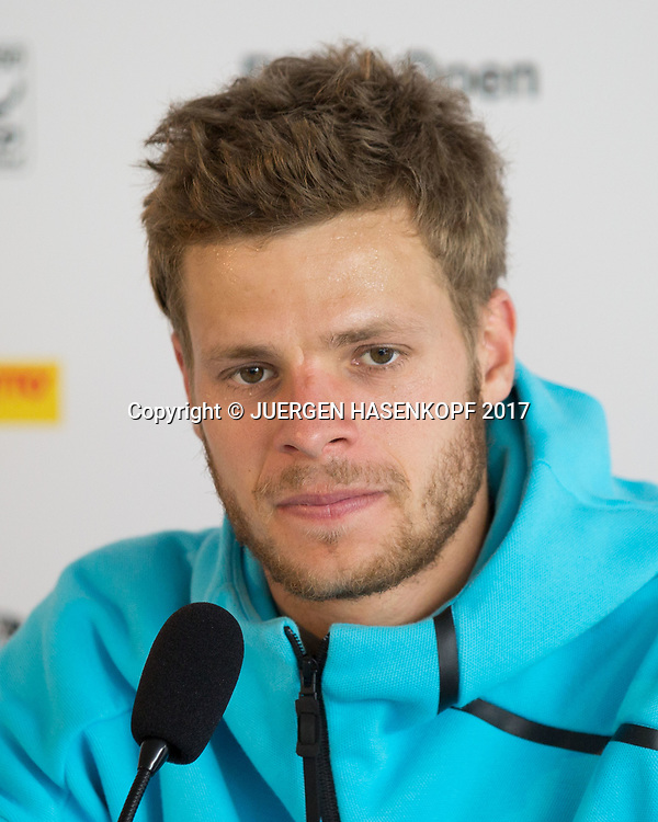 YANNICK HANFMANN (GER), Pressekonferenz<br /> <br /> Tennis - BMW Open2017 -  ATP  -  MTTC Iphitos - Munich -  - Germany  - 3 May 2017.