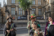 East Oxford and East Anglia morris men,, May morning, Oxford. 1 May 2016