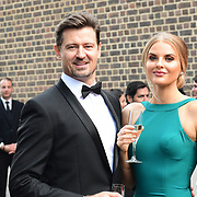 Dr Vern Neville,Grace Levy attends the 2018 Grand Prix Ball held at The Hurlingham Club on July 4, 2018 in London, England.