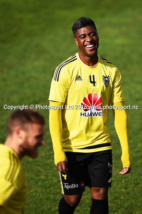Wellington Phoenix player Roly Bonevacia during training before their Hyundai A-League pre season game against the Central Coast Mariners. Trafalgar Park, Nelson, New Zealand. Friday 23 September 2016. ©Copyright Photo: Chris Symes / www.photosport.nz