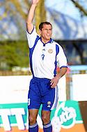 9.5.2001 Kuressaare, Estonia. Friendly match Estonia v Finland. Shefki Kuqi (FIN)..©JUHA TAMMINEN