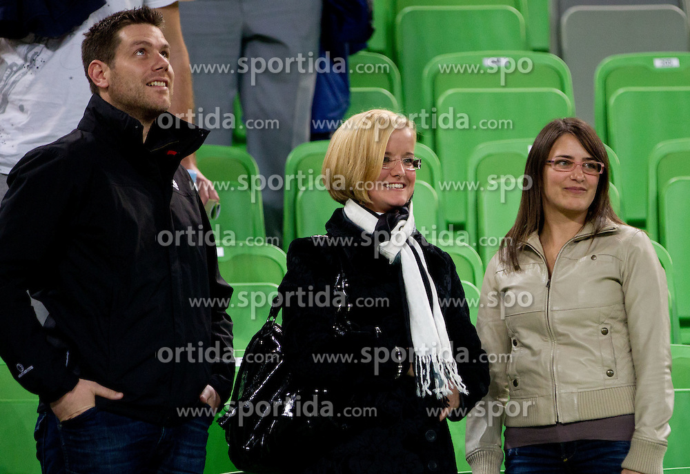 Family Lakovic during basketball match between KK Union Olimpija and Galatasaray Medical Park (TUR) of 4th Round in Group D of Regular season of Euroleague 2011/2012 on November 9, 2011, in Arena Stozice, Ljubljana, Slovenia. Galatasaray defeated Union Olimpija 79-70. (Photo by Vid Ponikvar / Sportida)
