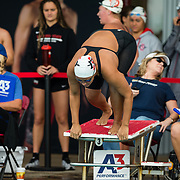 16 November 2017: The San Diego State women's swim team competes in the 2017 A3 Performance Invitational held at the SDSU Aquaplex. SDSU sophmore Kassidy Henson competes in the 500 yard freestyle event.<br /> www.sdsuaztecphotos.com