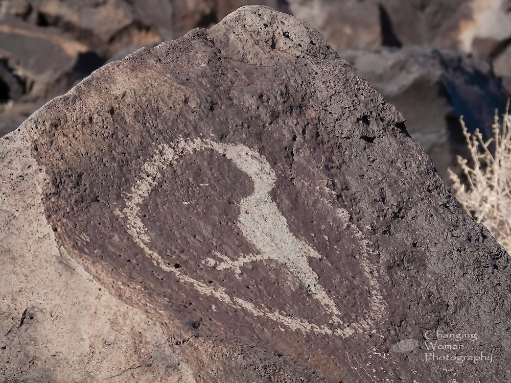 "A bird stands inside a circle that appears to issue from its beak.  According to ""Pueblo Pottery and Its Symbolism"" (http://www.santarosa.edu/~mbond/PuebloSymbols.pdf), ""birds...are symbols for prayer."""