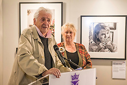 Scottish photographer, Harry Benson attends the launch of his exhibition, Seeing America at the Scottish Parliament in Edinburgh