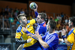 Ales Vlah of Koper and Miha Zarabec of Celje during handball match between RK Celje Pivovarna Lasko and RD Koper 2013 of Super Cup 2016, on August 27, 2016 in SRC Marina, Portoroz / Portorose, Slovenia. Photo by Matic Klansek Velej / Sportida