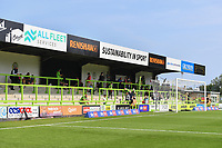 Football - 2020 / 2021 EFL League Two - Forest Green Rovers vs Bradford City<br /> <br /> Fans inside the ground at this test pilot, at the New Lawn Stadium<br /> <br /> COLORSPORT/ASHLEY WESTERN