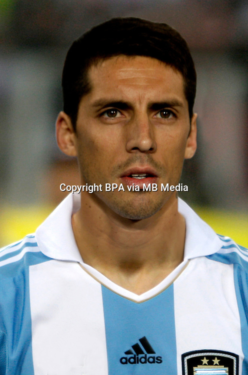 Football Fifa Brazil 2014 World Cup Matchs-Qualifier / South America - Group Matches /<br /> Peru vs Argentina 1-1 ( National Stadium-Lima ,Peru )<br /> Jose SOSA of Argentina , During the match between Peru and Argentina