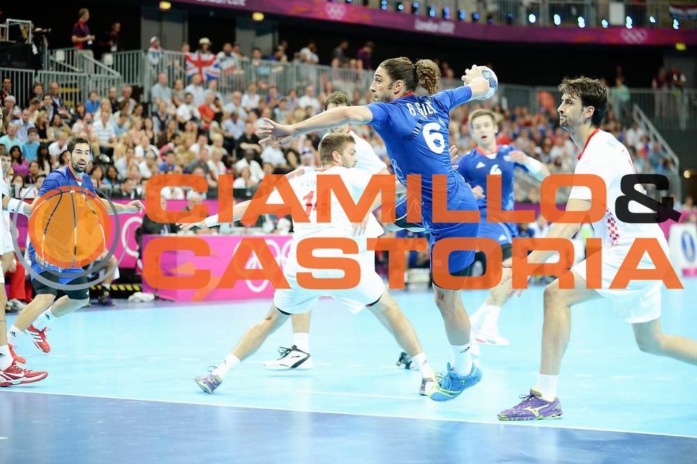 DESCRIZIONE : Handball Jeux Olympiques Londres Demi finale<br /> GIOCATORE : Gille Bertrand FRA<br /> SQUADRA : France Homme<br /> EVENTO : Jeux Olympiques<br /> GARA : France Croatie<br /> DATA : 10 08 2012<br /> CATEGORIA : Basketball Jeux Olympiques<br /> SPORT : Handball<br /> AUTORE : JF Molliere <br /> Galleria : France JEUX OLYMPIQUES 2012 Action<br /> Fotonotizia : Jeux Olympiques Londres demi Finale <br /> Predefinita :