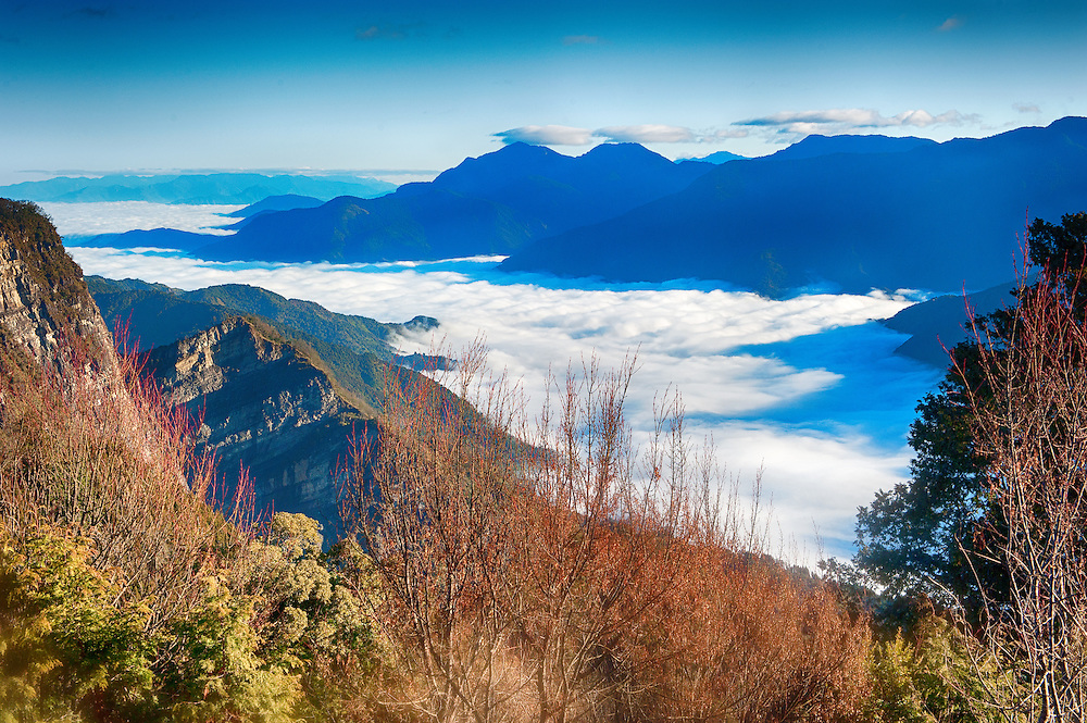 Sea of Clouds at Alishan of Taiwan