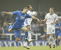 Photo: Aidan Ellis.<br /> Rochdale v Wycombe Wanderers. Coca Cola League 2. 16/09/2006.<br /> Rochdale's Alan Goodall battles with Wycombe's Kevin Betsy