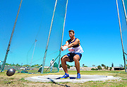CAPE TOWN, SOUTH AFRICA - Saturday 27 February 2016, Corne Thiart of Bellville AC in the Boys U18 Hammer Throw during the Western Province Athletics League Track and Field athletic meeting at the Parow Athletics Stadium. <br /> Photo by Roger Sedres/ImageSA