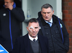 Wigan Athletic manager Warren Joyce (L) and Blackburn Rovers manager Tony Mowbraw before the match - Mandatory by-line: Jack Phillips/JMP - 04/03/2017 - FOOTBALL - Ewood Park - Blackburn, England - Blackburn Rovers v Wigan Athletic - Football League Championship