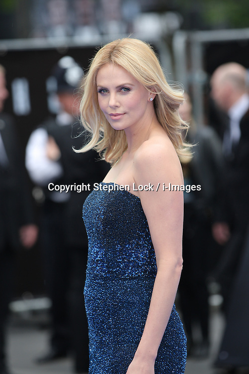 Charlize Theron arriving for the premiere of her new film Prometheus, in London on Thursday, 31st May 2012.  Photo by: Stephen Lock / i-Images