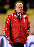 Fussball International, Italienische Nationalmannschaft  Italien - Kamerun 03.03.2010 Trainer Marcello Lippi (ITA)