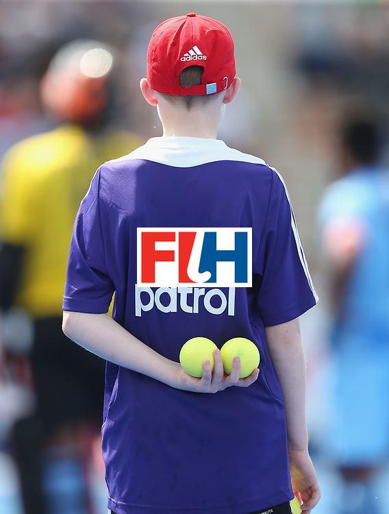 LONDON, ENGLAND - JUNE 17: Ball Patrol during the Hero Hockey World League semi final match between Canada and India at Lee Valley Hockey and Tennis Centre on June 17, 2017 in London, England.  (Photo by Alex Morton/Getty Images)